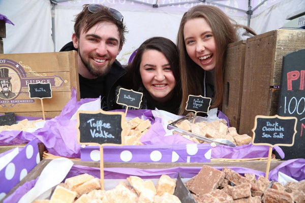 Picture of the Ministry of Fudge team at a Food Festival