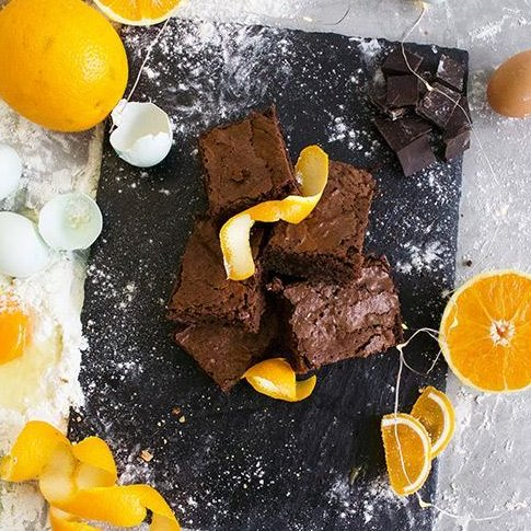 Chocolate Orange Brownie - £3.00