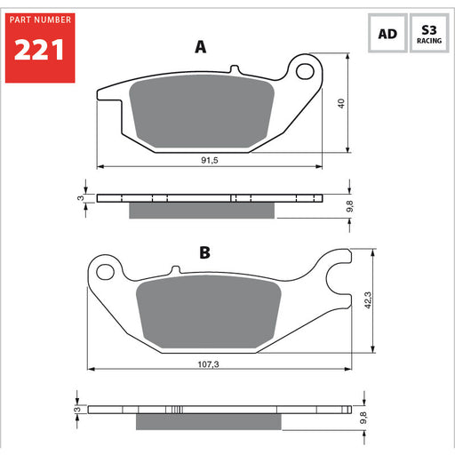 #221/S3 GOLDFREN SINTERED SPORTS (PH303)