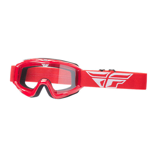 FLY FOCUS GOGGLE - RED WITH CLEAR LENS