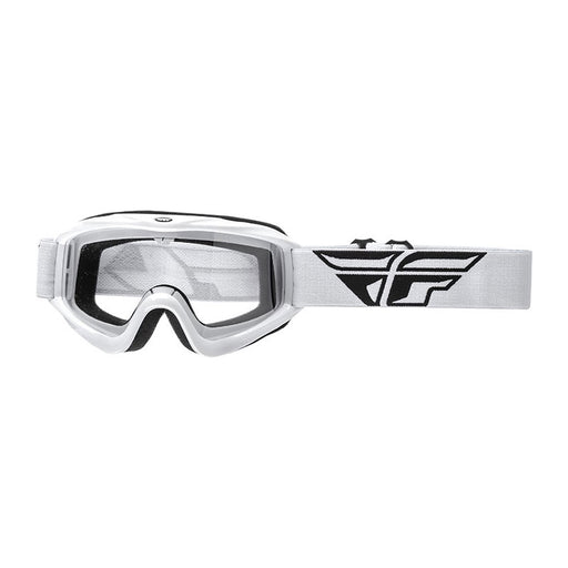 FLY FOCUS GOGGLE - WHITE WITH CLEAR LENS