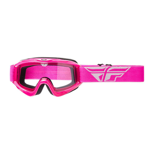 FLY FOCUS GOGGLE - PINK WITH CLEAR LENS