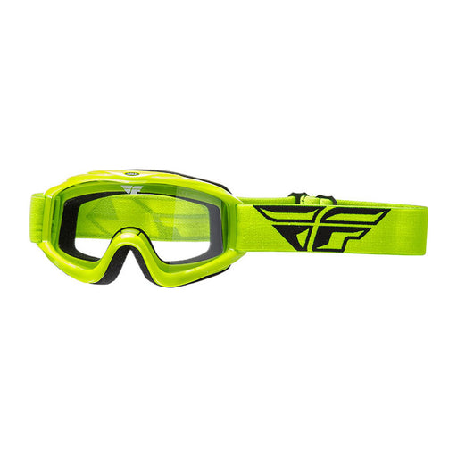FLY FOCUS GOGGLE - HI-VIS WITH CLEAR LENS
