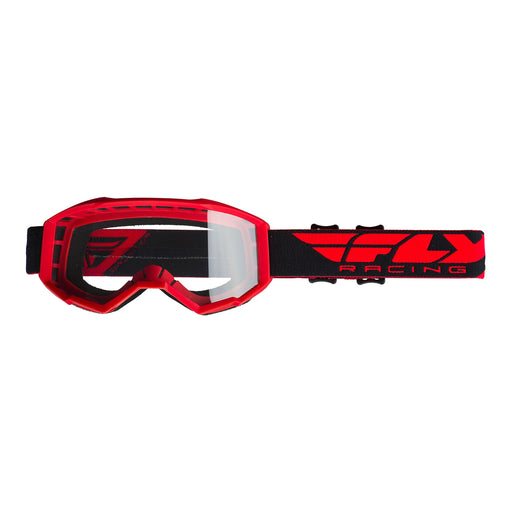 FLY 2019 FOCUS GOGGLE - RED WITH CLEAR LENS