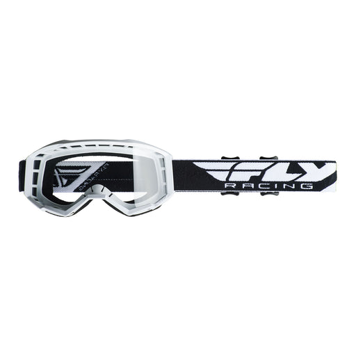 FLY 2019 FOCUS GOGGLE - WHITE WITH CLEAR LENS