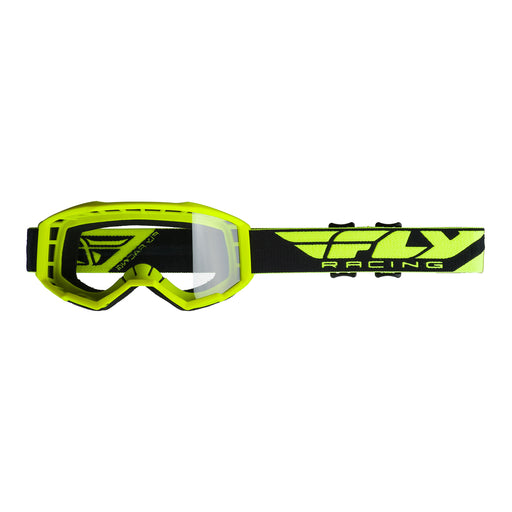 FLY 2019 FOCUS GOGGLE - HI-VIS YELLOW WITH CLEAR LENS