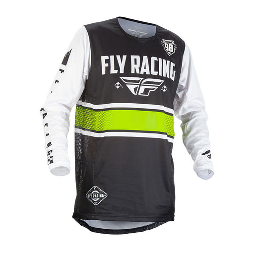 FLY KINETIC ERA JERSEY - BLACK / WHITE