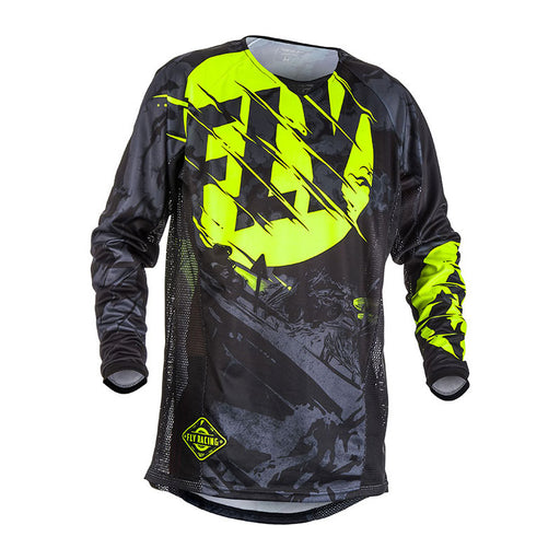 FLY KINETIC OUTLAW JERSEY - BLACK / HI-VIS