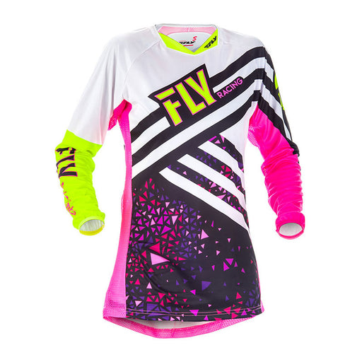 FLY LADIES KINETIC JERSEY - PINK / HI-VIS