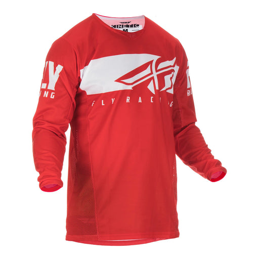 FLY 2019 KINETIC SHIELD JERSEY - RED / WHITE
