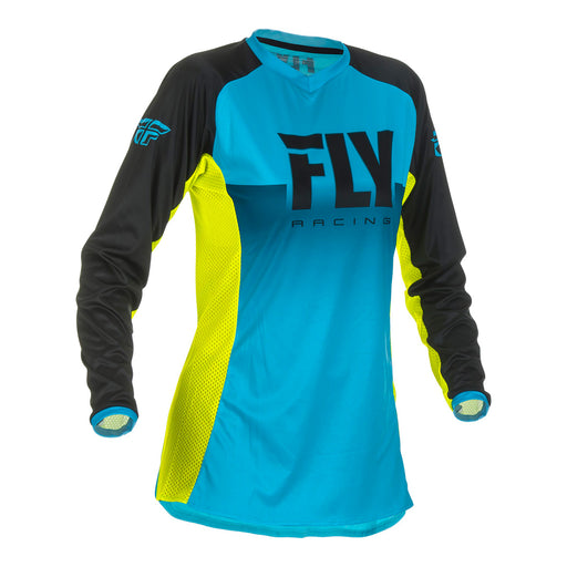 FLY 2019 LADIES LITE HYDROGEN JERSEY - BLUE / HI-VIS