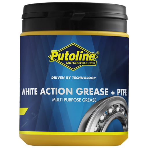 PUTOLINE ACTION GREASE - WHITE+PTFE - 600GRM JAR (73611)