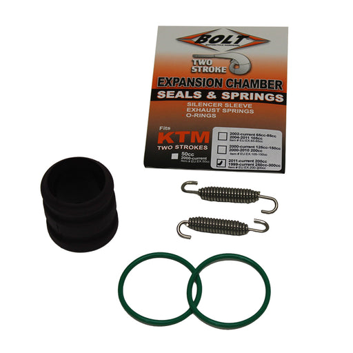 BOLT EXHAUST O-RING PACK KTM 200-300 00-