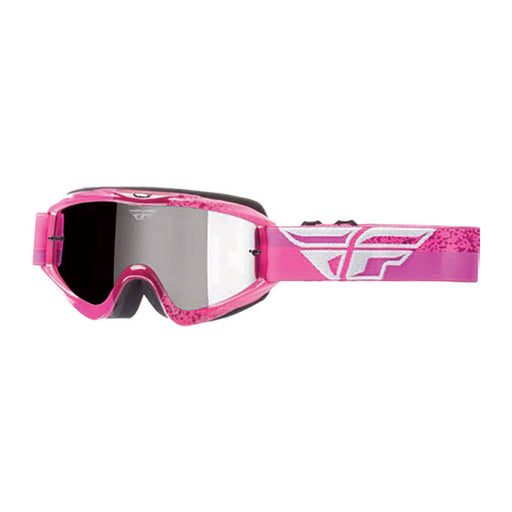 FLY ZONE GOGGLE - GREY / PINK WITH CHROME / SMOKE LENS