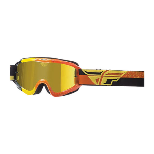 FLY ZONE GOGGLE - YELLOW / ORANGE / BLACK WITH GOLD MIRROR L