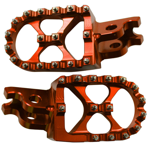 WHITES MX WIDE FOOTPEGS TRS798 ORG KTM SX/SXF 125/450 2016