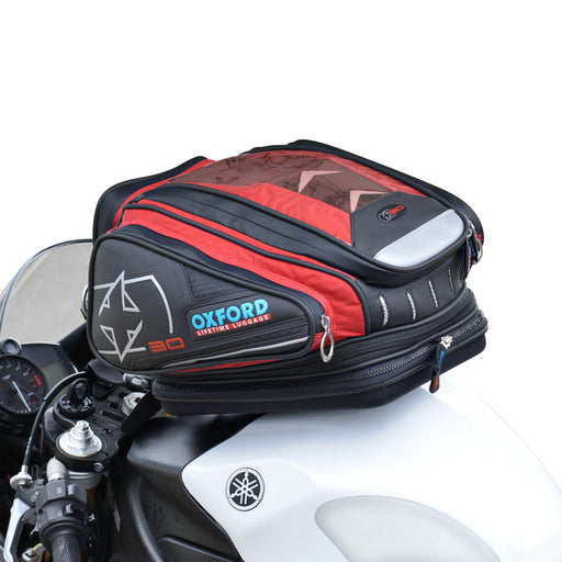 OXFORD X30 QR QUICK RELEASE TANK BAG - RED