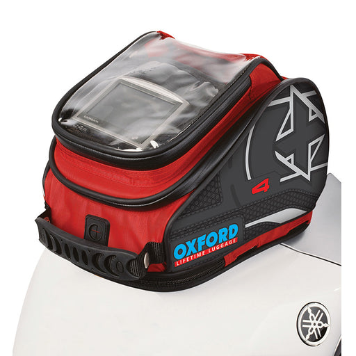 OXFORD X4 QR QUICK RELEASE TANK BAG - RED