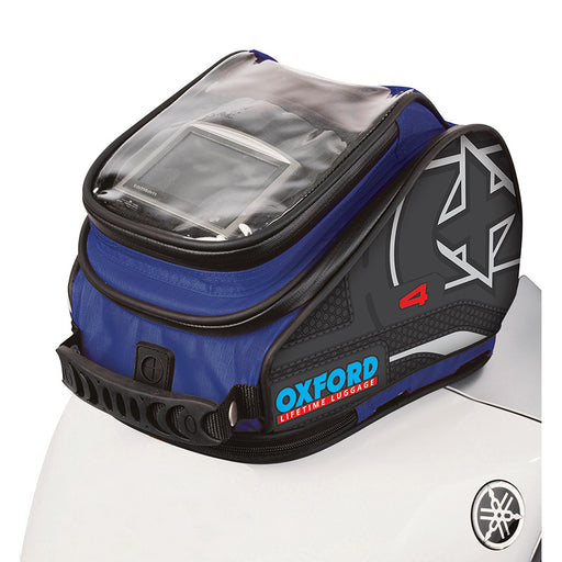 OXFORD X4 QR QUICK RELEASE TANK BAG - BLU