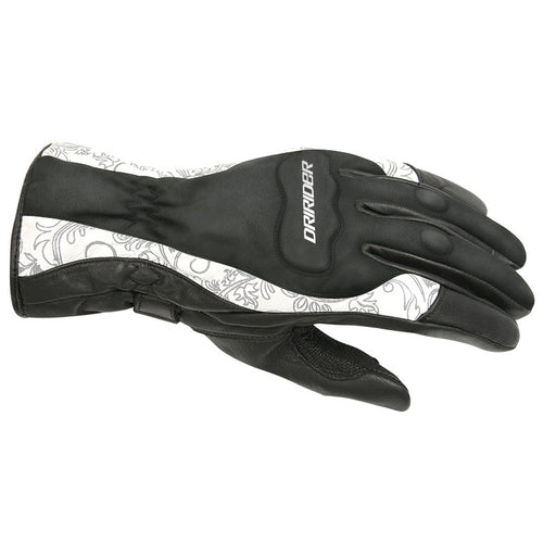 DRIRIDER LADIES VIVID 2 GLOVES - BLACK / WHITE