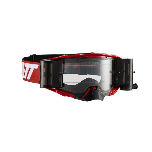 LEATT GOGGLE VELOCITY 6.5 ROLL-OFF RED/WHT - CLEAR LENS