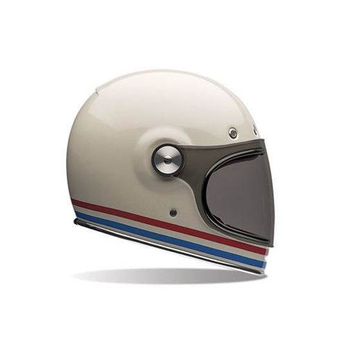 Bullitt Helmet by Bell - Stripes Pearl White