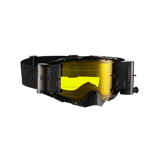 LEATT GOGGLE VELOCITY 6.5 ROLL-OFF BLK/GRY - YELLOW LENS