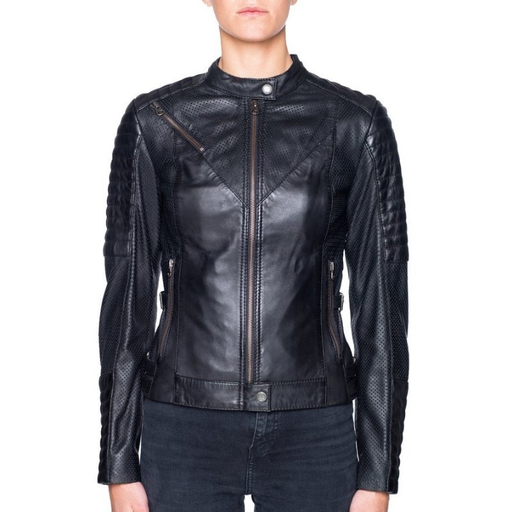 BLACK ARROW WILD AND FREE MOTORCYCLE JACKET Leather
