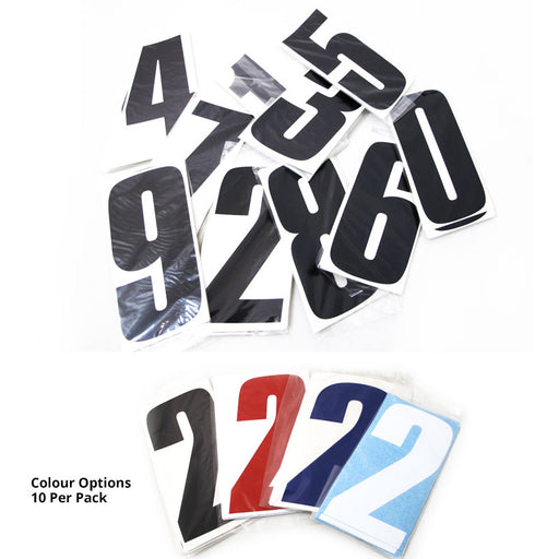 WHITES RACE NUMBER 6IN VINYL #7 WHT PKT OF 10