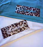 Womans Olympus Leopard Print Cropped Tank
