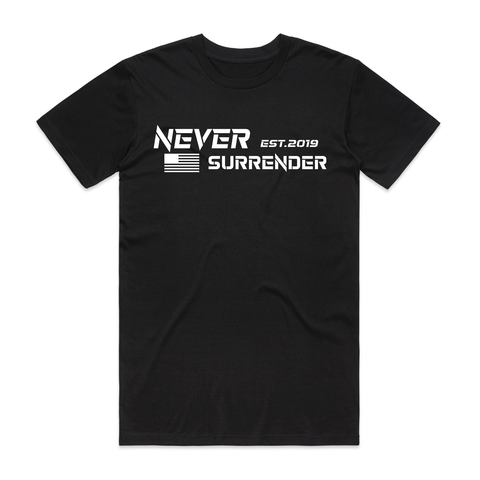 Never Surrender Tee - Black