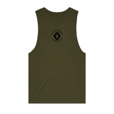 Never Surrender Crest Muscle Tank