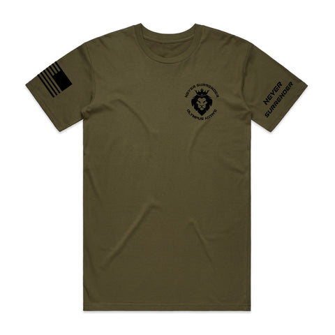 Never Surrender Crest Tee - Colors