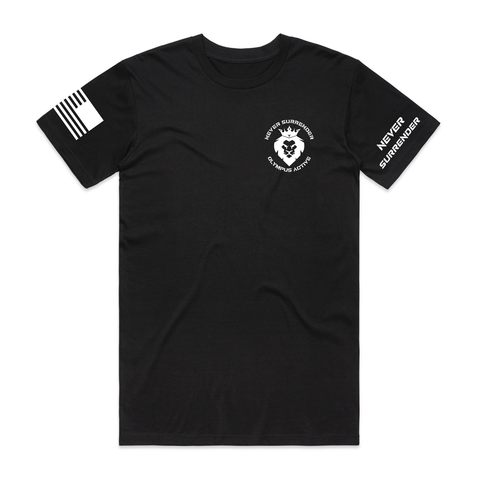 Never Surrender Crest Tee - Black