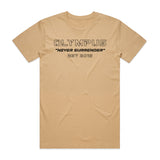 Never Surrender Outline Tee - Colors