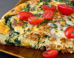 Mixed Veg Frittata, HOT Breakfast