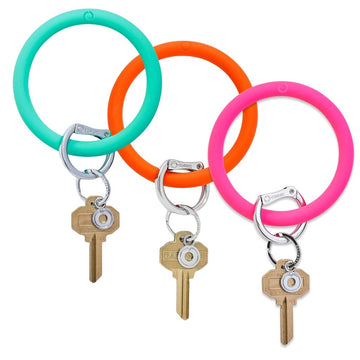 Silicone Big O Key Ring - Bright Collection