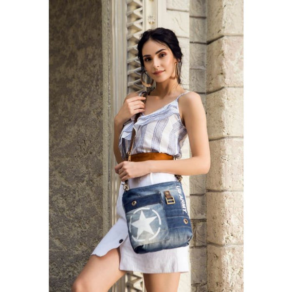 Myra Star Denim Shoulder Bag