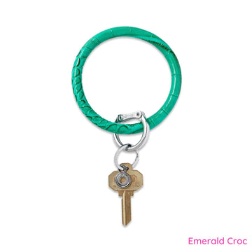 Leather Big O Key Ring - Jewel Tone Collection