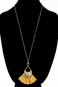 Tear Drop with Tassel Necklace