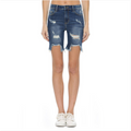 Cello High Rise Distressed Bermuda Shorts