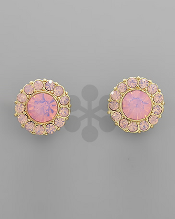 Crystal Disc Studs