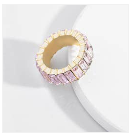 Light Pink Glass Ring