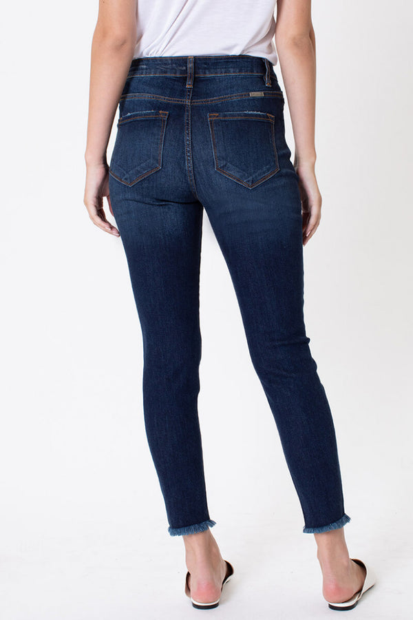KanCan Dark Washed Button Fly Jeans