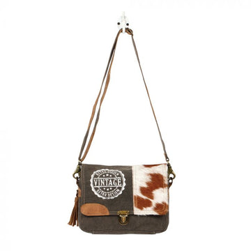 Vintage Stamp Messenger Bag  - MYRA Bag
