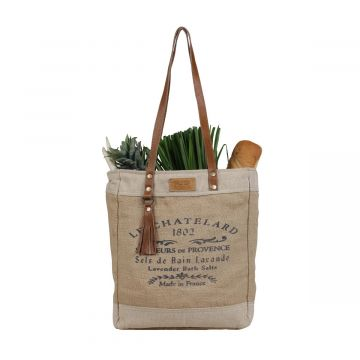 Old School Organic Fabric Market Myra Bag