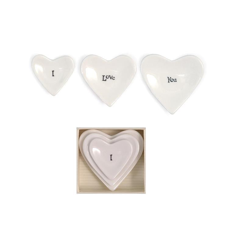 East Of India - I Love You Stackable Heart Trays