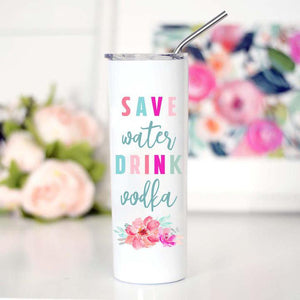 Tall Travel Cup Save Water