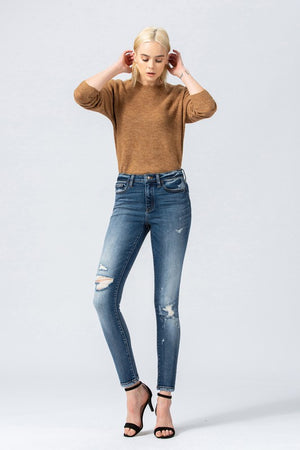 Vervet Distressed Skinny High Rise