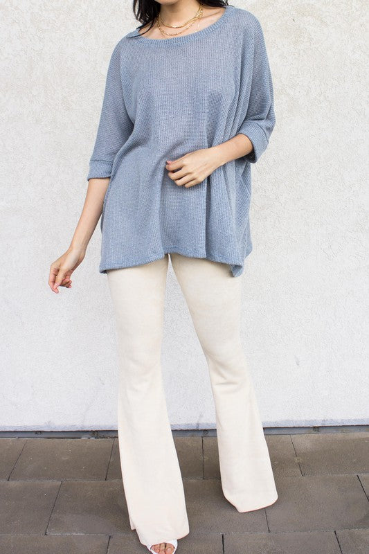 Knit Round Neck Top